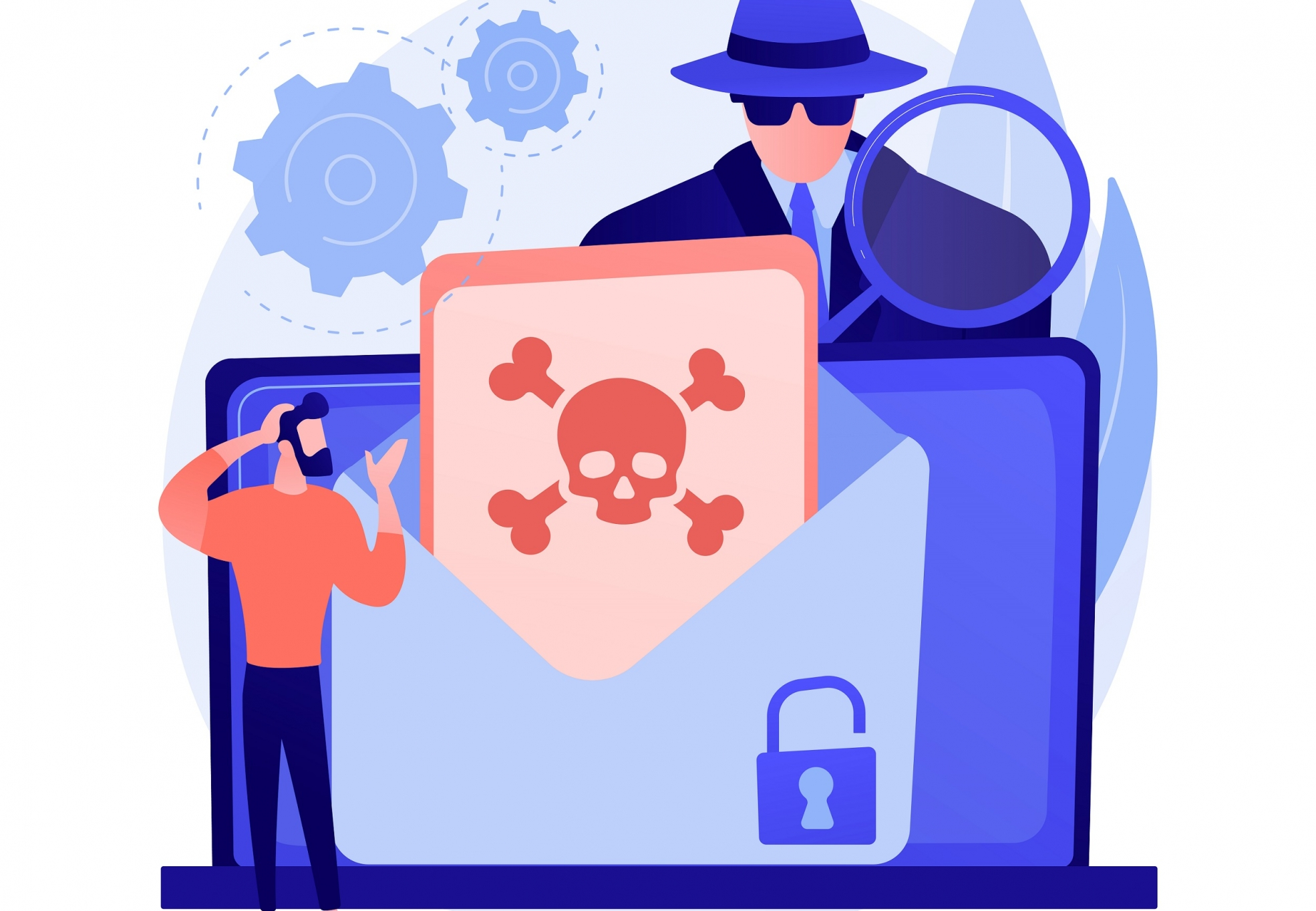 Malware abstract concept vector illustration. Malicious software, computer virus, malware program, spyware development, online antivirus security and protection, cyber attack abstract metaphor.